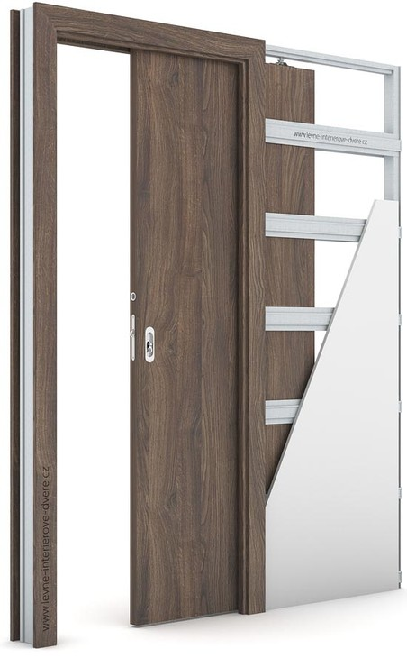 Interiérové dveře Porta DECOR P Portasynchro 3D DUB ŠARLATOVÝ