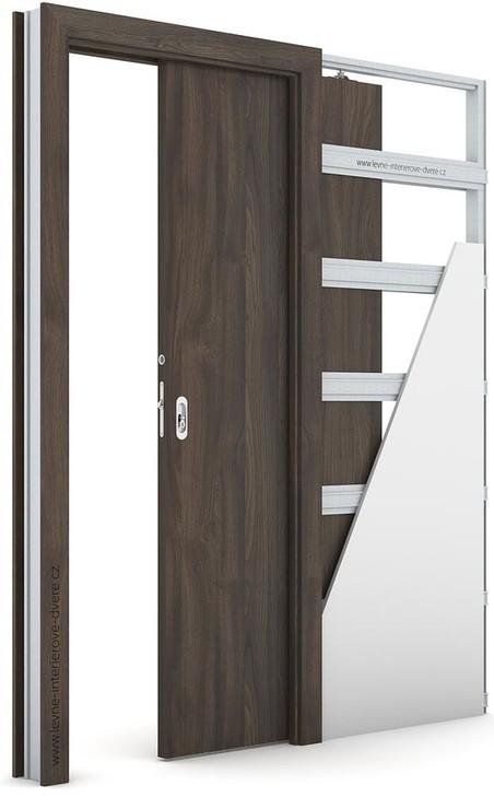 Interiérové dveře Porta DECOR P Portasynchro 3D DUB TMAVÝ