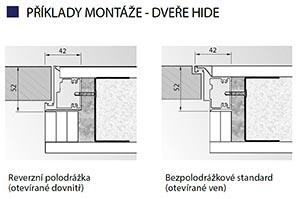 Příklady montáže dveří a zárubní Porta HIDE