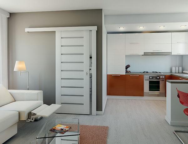 Posuvné dveře po stěně