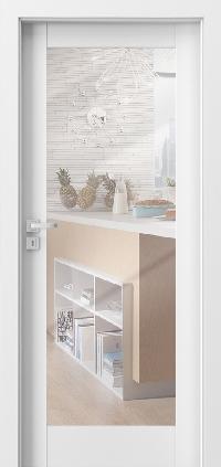 Interiérové dveře Porta GRANDE A.1 se zrcadlem Akrylová barva UV BÍLÁ