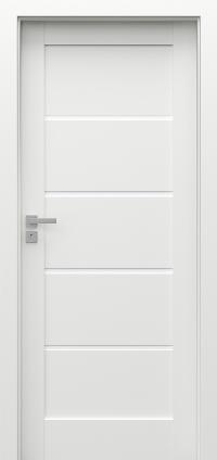 Interiérové dveře Porta GRANDE G.0 Akrylová barva UV BÍLÁ