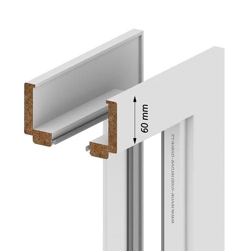 3 kusy STŘÍBRNÝ pro standardní zárubeň Porta SYSTEM